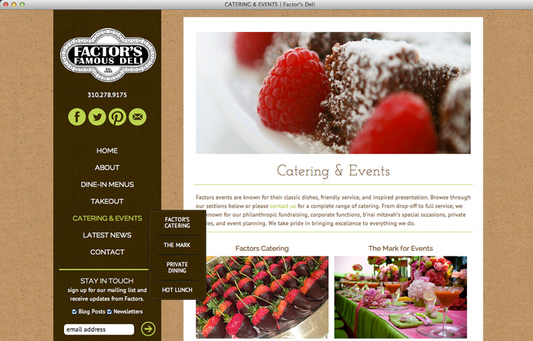 FACTOR'S FAMOUS DELI CATERING